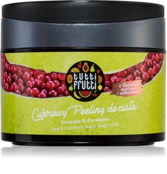 Farmona Tutti Frutti Pear & Cranberry peeling de açúcar para corpo