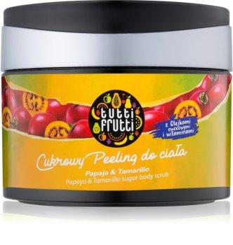 Farmona Tutti Frutti Papaja & Tamarillo cukros test peeling