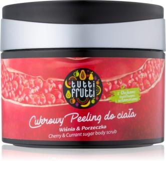 Farmona Tutti Frutti Cherry & Currant exfoliante a base de azúcar para el cuerpo