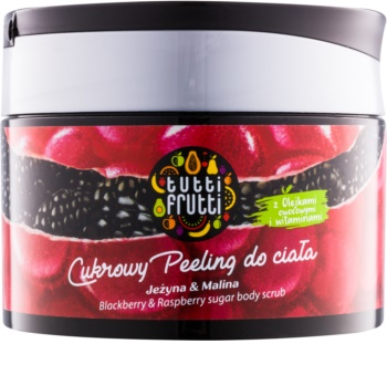 Farmona Tutti Frutti Blackberry & Raspberry cukrový telový peeling