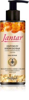 Farmona Jantar Gold creme nutritivo para as mãos