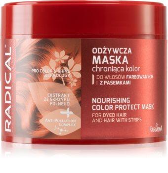 Farmona Radical Dyed Hair vyživující maska na vlasy pro ochranu barvy