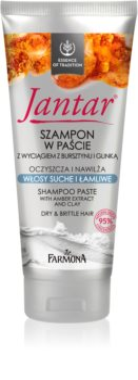 Farmona Jantar Amber Extract & Clay čisticí šampon pro suché a křehké vlasy
