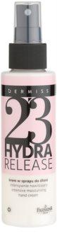 Farmona Dermiss Hydra Release crema hidratante para manos en spray