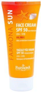 Farmona Sun защитен крем за мазна към смесена кожа SPF 50