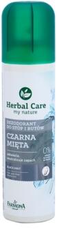 Farmona Herbal Care Black Mint déodorant en spray pieds et chaussures