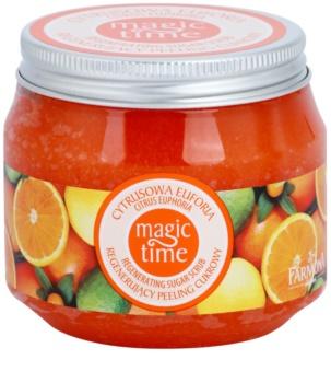Farmona Magic Time Citrus Euphoria esfoliante corporal regenerador com açucar