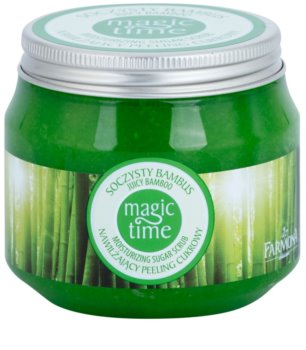 Farmona Magic Time Juicy Bamboo exfoliante corporal con azúcar para hidratar y tensar la piel