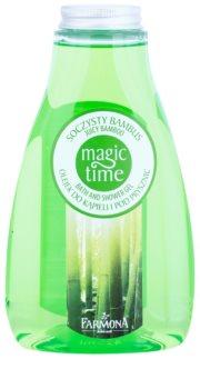 Farmona Magic Time Juicy Bamboo gel de duche e banho com efeito nutritivo