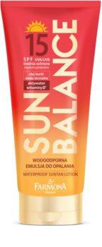 Farmona Sun Balance wodoodporne mleczko do opalania SPF 15