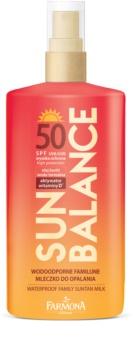 Farmona Sun Balance ochranné opalovací mléko pro celou rodinu SPF 50