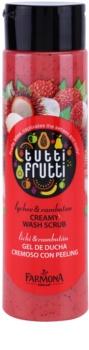 Farmona Tutti Frutti Lychee & Rambutan exfoliante de ducha cremoso