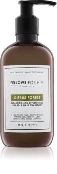 Fellows for Him Citrus Forest șampon pentru păr și barbă