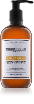 Fellows for Him Vanilla Cream shampoing cheveux et barbe