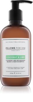 Fellows for Him Coconut & Lime Beard and Hair Shampoo
