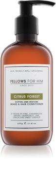 Fellows for Him Citrus Forest conditionneur pour barbe et cheveux