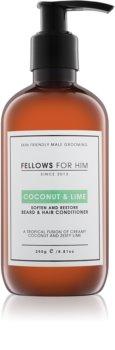 Fellows for Him Coconut & Lime balsam pentru păr și barbă