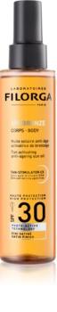 Filorga UV-Bronze Beskyttende og bruningsforstærkende olie SPF 30
