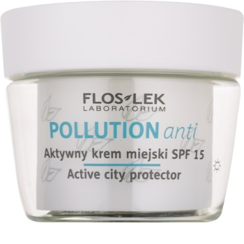 FlosLek Laboratorium Pollution Anti crema giorno attiva SPF 15
