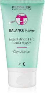 FlosLek Laboratorium Balance T-Zone emulsie pentru curatare si masca pentru ten mixt