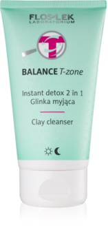 FlosLek Laboratorium Balance T-Zone émulsion et masque nettoyante pour peaux mixtes