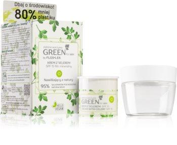 FlosLek Laboratorium GREEN for skin hydratační denní krém SPF 15