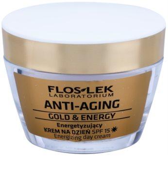 FlosLek Laboratorium Anti-Aging Gold & Energy energetska dnevna krema SPF 15