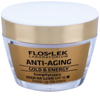 FlosLek Laboratorium Anti-Aging Gold & Energy енергизиращ дневен крем SPF 15