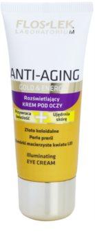 FlosLek Laboratorium Anti-Aging Gold & Energy creme de olhos iluminador