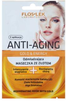 FlosLek Laboratorium Anti-Aging Gold & Energy verjüngende Maske mit Goldpuder