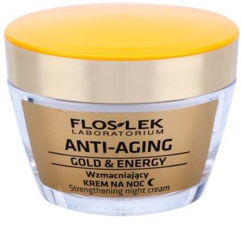 FlosLek Laboratorium Anti-Aging Gold & Energy posilující noční krém