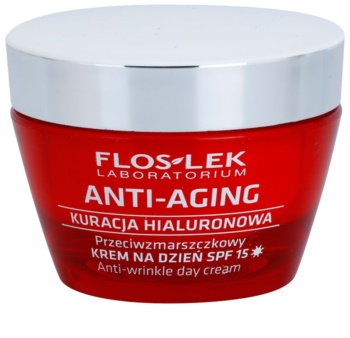 FlosLek Laboratorium Anti-Aging Hyaluronic Therapy dnevna hidratantna krema protiv starenja kože lica SPF 15