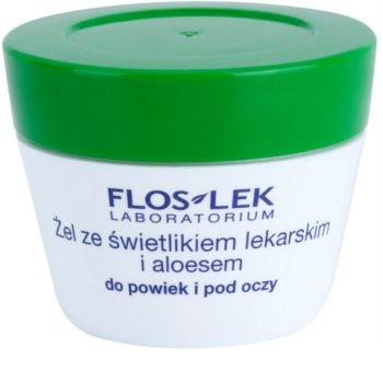 FlosLek Laboratorium Eye Care gel za područje oko očiju s očanicom i aloe verom
