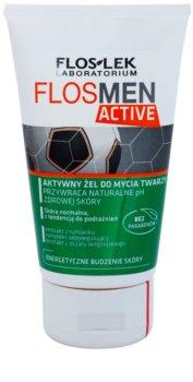 FlosLek Laboratorium FlosMen Active gel de limpeza para pele sensível e irritada