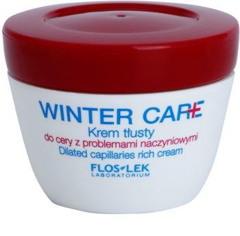 FlosLek Laboratorium Winter Care bogata zaštitna krema za osjetljivo lice sklono crvenilu