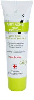 FlosLek Pharma Anti Acne mattierende Creme für Haut mit kleinen Makeln