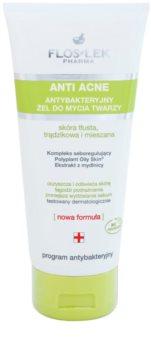 FlosLek Pharma Anti Acne gel detergente per pelli grasse con tendenza all'acne
