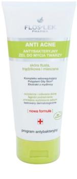FlosLek Pharma Anti Acne Reinigungsgel  für fettige Haut mit Neigung zu Akne