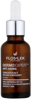 FlosLek Pharma DermoExpert Acid Peel cremă de noapte cu efect de întinerire