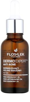 FlosLek Pharma DermoExpert Acid Peel nocna pielęgnacja normalizująca do skóry z niedoskonałościami