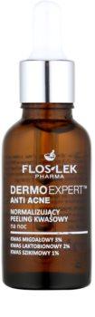 FlosLek Pharma DermoExpert Acid Peel trattamento notte normalizzante per pelli con imperfezioni