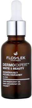 FlosLek Pharma DermoExpert Acid Peel cuidado noturno iluminador anti-manchas de pigmentação