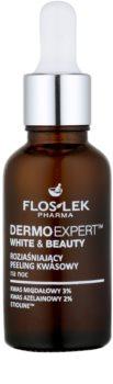 FlosLek Pharma DermoExpert Acid Peel posvetlitvena nočna nega proti pigmentnim madežem