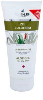 FlosLek Pharma Dry Skin Aloe Vera gel regenerare pentru fata si decolteu