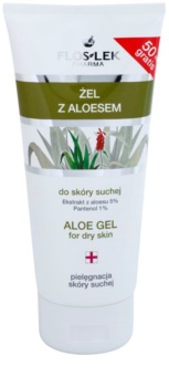 FlosLek Pharma Dry Skin Aloe Vera regeneráló zselé az arcra és dekoltázsra