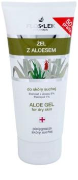 FlosLek Pharma Dry Skin Aloe Vera regenerierendes Gel Für Gesicht und Dekolleté