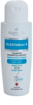 FlosLek Pharma ElestaBion S дерматологичен шампоан против сух пърхот