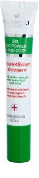FlosLek Pharma Eye Care гел за околоочната зона с очанка и алое вера