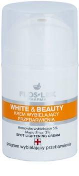 FlosLek Pharma White & Beauty crema sbiancante per un trattamento localizzato