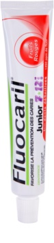 Fluocaril Junior 7-12 Red Fruits pasta de dentes para crianças